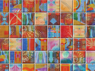 Kala Earth tones Watercolor Tiles