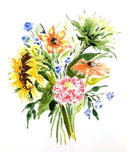 sunflower wildflower bouquet.jpg