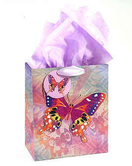 Beautiful Butterfly by Suzan Lind, newly licensed onto giftbags!