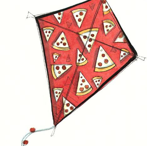 Pepperoni Pizza Kite