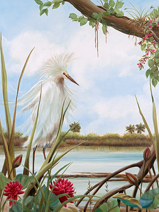All Dressed Up - Snowy Egret