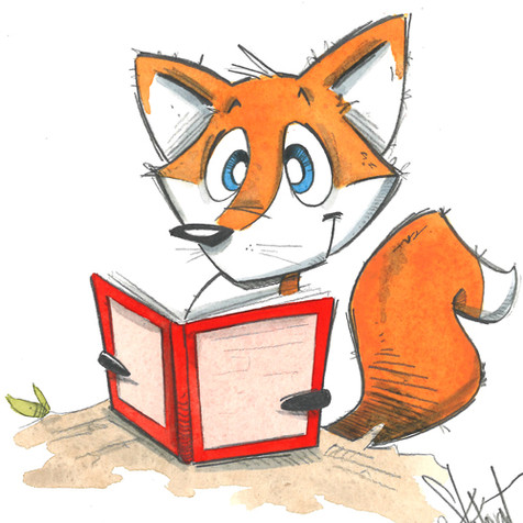 Fox with Book