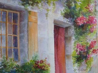 Door and Window with Flowers (K50)