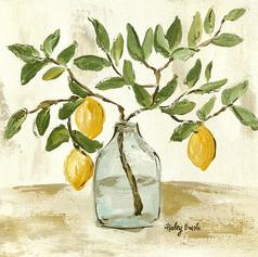 lemon branch vase 10x10