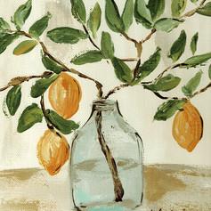 lemon branch vase 8x10