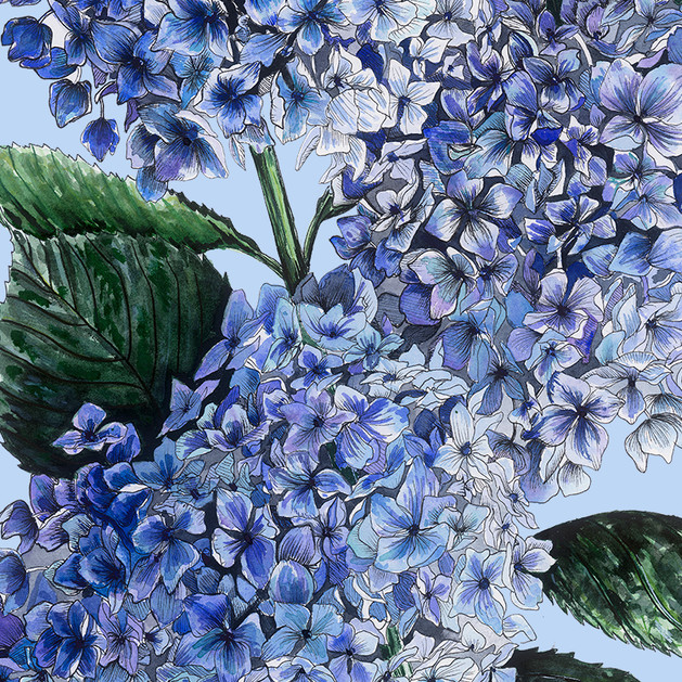 Blue Hydrangeas Garden Flag 13x18 copy.j