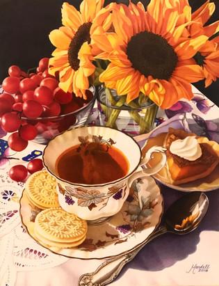 Tea with Pumpkin Pie and Sunflowers.jpg