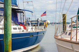Blue Boat at Marine