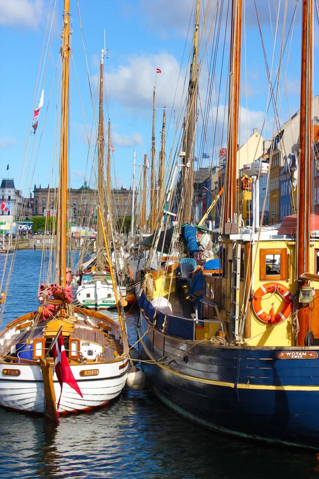 Nyhavn Waterfront Copenhagen Boats