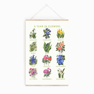 A YEAR IN FLOWERS POSTER square mockup 1