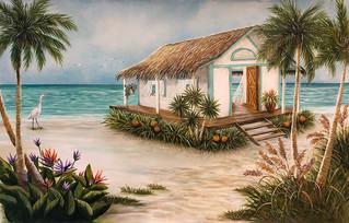 Take Me To The Beach - Tropical Beach Hut