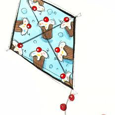 Cupcakes Kite