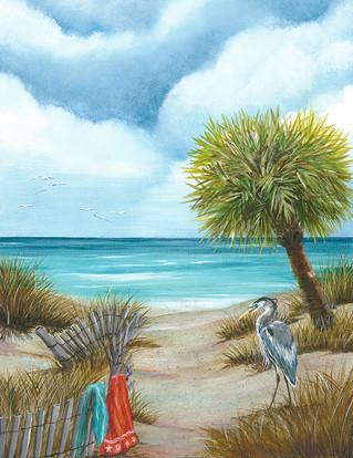 Tranquil Beach 3 - Blue Heron