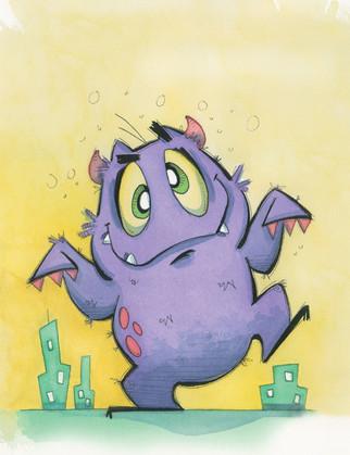 Giant Purple Monster
