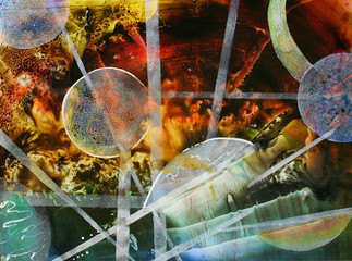 Abstract Watercolor Planets (K117)