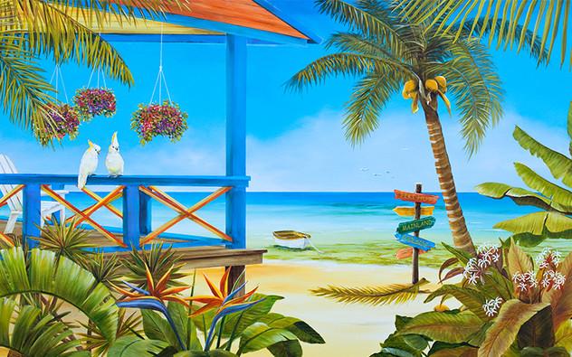 Island Solitude -  Cockatoos on porch