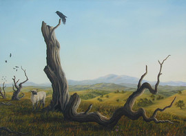 Landscape with Sheep (Other Animals - Sh