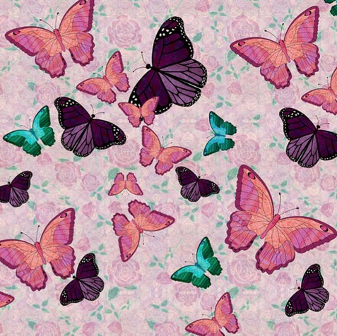 Butterflies Pink and Mauve BFY-4