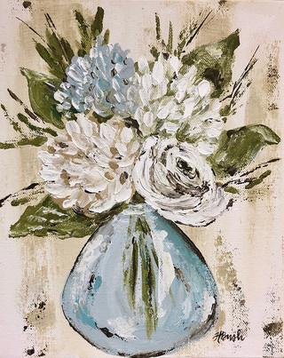 Blue and White Flowers in Vase.jpg