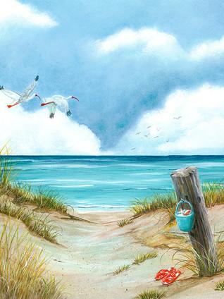 Tranquil Beach 2 - Flip flops, birds