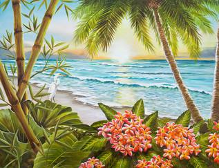 Paradise Beach Pink Flowers