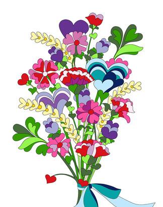 Hearts Bouquet