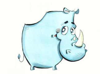 Cute Blue Rhino (Jungle Collection)