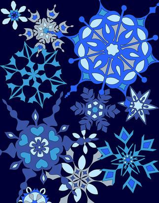Snowflakes - Dark Background