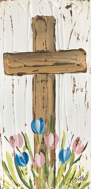 brown cross with tulips.jpg