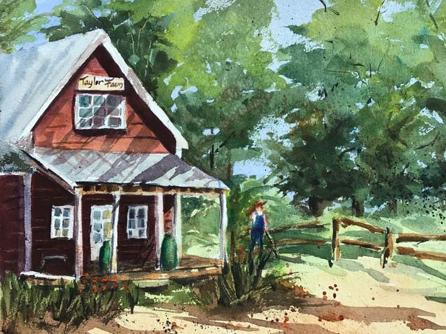 Farmhouse with Farmer (K45)