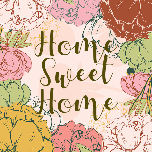 Home Sweet Home Peony Pink Pastel