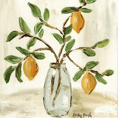 lemon branch vase two