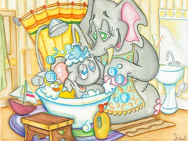 Tubby Time for Baby Elephant