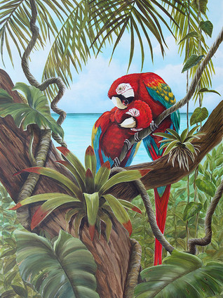 Amore 2 - Parrots in Tree