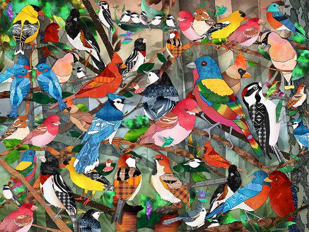 Bird Medley with Trees