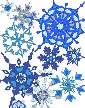 Snowflakes - white background