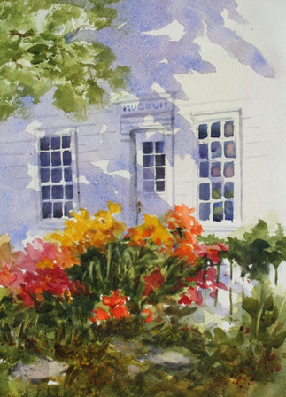 White House with Flowers (K41)