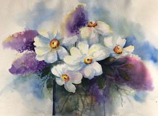 Small White Flowers (K40)