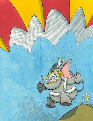 Parachuting Elephant  (Jungle Collection