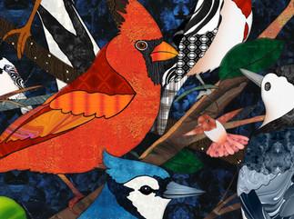 Bird Medley 3 - Cardinal detai.