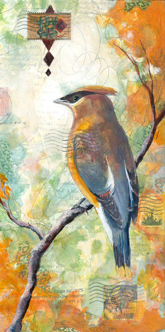 Cedar Wax Wing from the Air Mail Series.