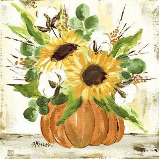 Sunflowers in Pumpkin by Haley Bush