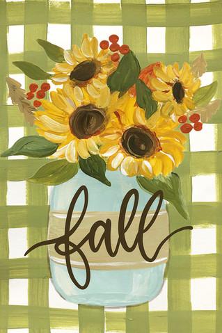fall sunflowers green gingham-lr.jpg