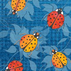Ladybugs, Orange and Red