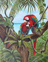 Copy of Amore 2 - Parrots in Tree