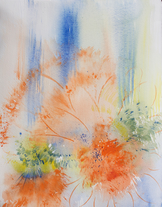 Orange Burst - Abstract Flowers