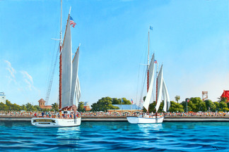 Sailing by Mallory Square