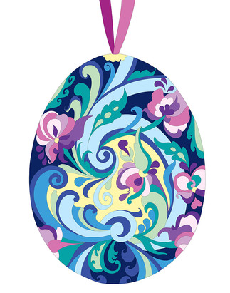 Painted Egg - blue