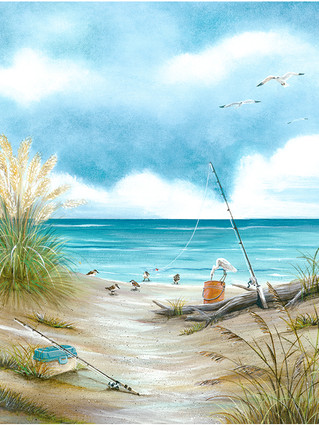 Tranquil Beach 1 - Fishing poles, Sandip