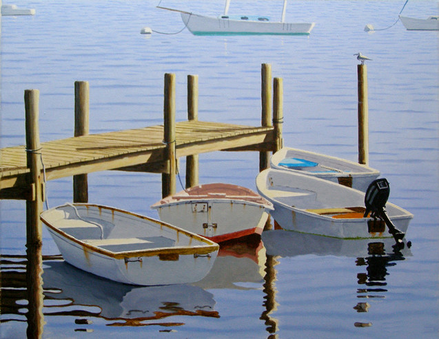 Dinghies By the Dock